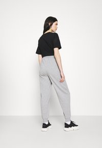 Topshop - JOGGER WITH GRAPHIC - Tracksuit bottoms - grey - 2