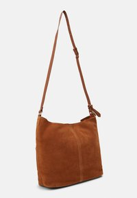 Anna Field - LEATHER - Across body bag - cognac - 1