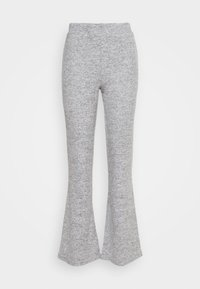 Pieces - PCPAM FLARED PANT - Trousers - light grey melange - 0