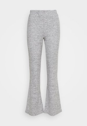 PCPAM FLARED PANT - Pantalon classique - light grey melange