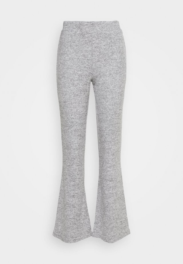 PCPAM FLARED PANT - Kangashousut - light grey melange