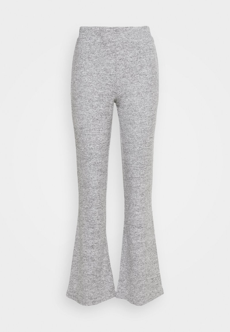 Pieces - PCPAM FLARED PANT - Trousers - light grey melange