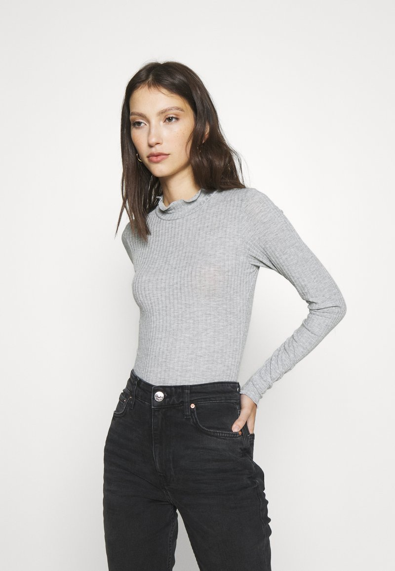 New Look - TURTLE NECK BODY - Long sleeved top - mid grey