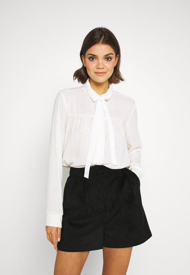 BLOUSE MEDAL - Button-down blouse - ecru