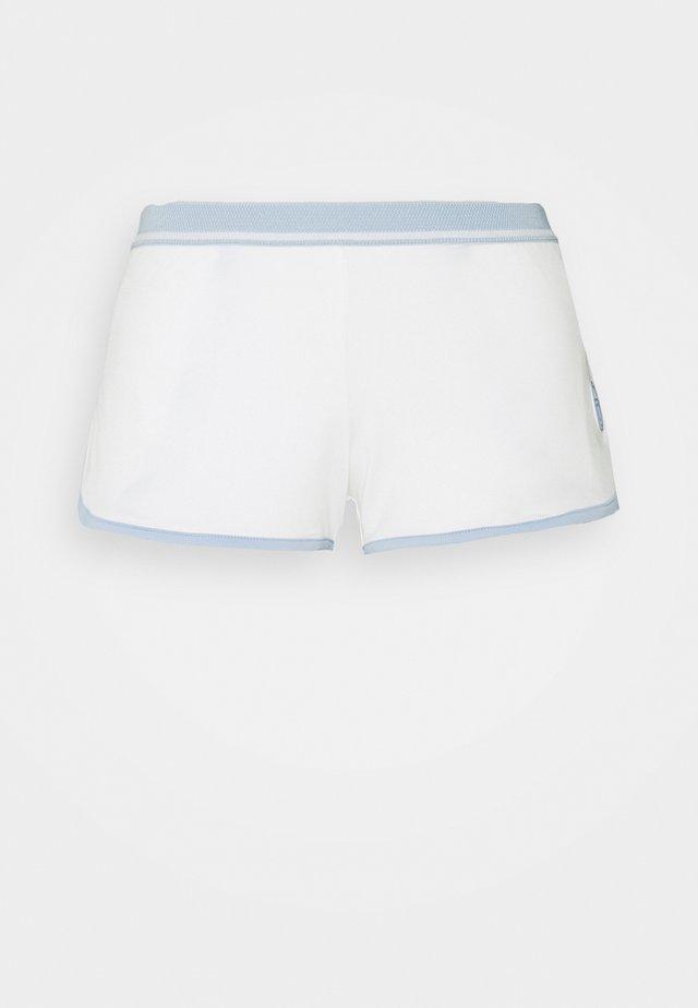 SHORTS WOMAN - Sportovní kraťasy - blanc de blanc/kentucky blue