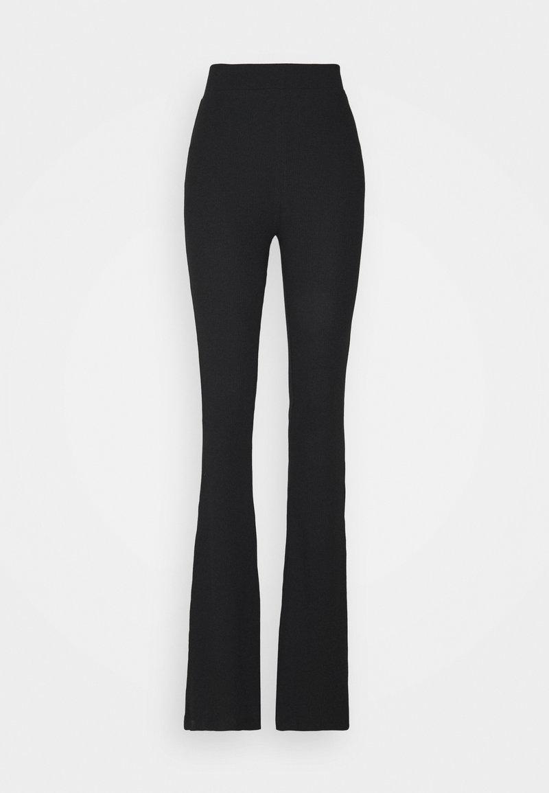 Noisy May Tall - NMPASA FLARED PANTS TALL - Bukse - black