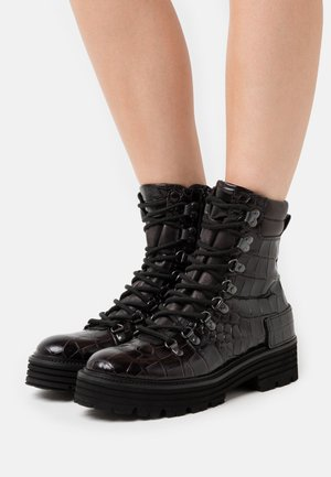 ELA - Platform ankle boots - schwarz