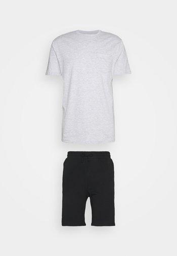 SET - Pyjama - mottled grey/black