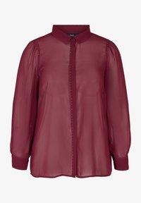 Zizzi - Button-down blouse - red - 1