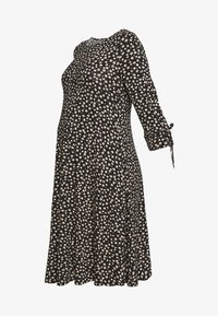 Dorothy Perkins Maternity - DAISY PRINT TIE SLEEVE FIT AND FLARE DRESS - Sukienka z dżerseju - black - 5