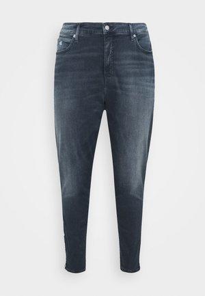 HIGH RISE SKINNY ANKLE - Zúžené džíny - blue denim