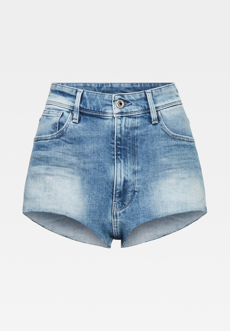 G-Star - KAFEY ULTRA  - Denim shorts - sun faded azurite