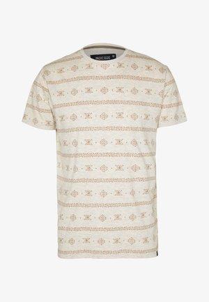 CANNES - Print T-shirt - ecru