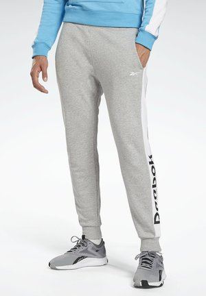 TRAINING ESSENTIALS LINEAR LOGO JOGGERS - Tracksuit bottoms - grey