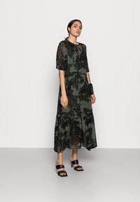 InWear - YASMEEN LONG DRESS - Maxi dress - green camouflage - 1
