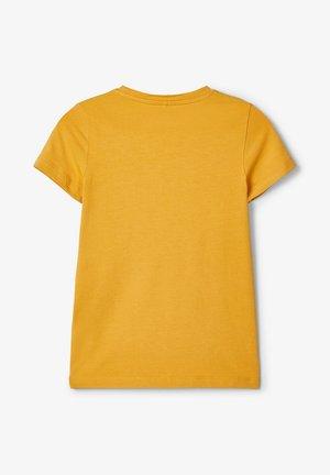 Print T-shirt - amber gold
