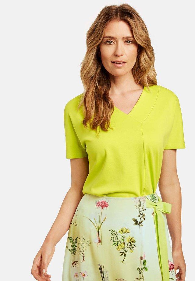 T-shirt basic - acid lemon