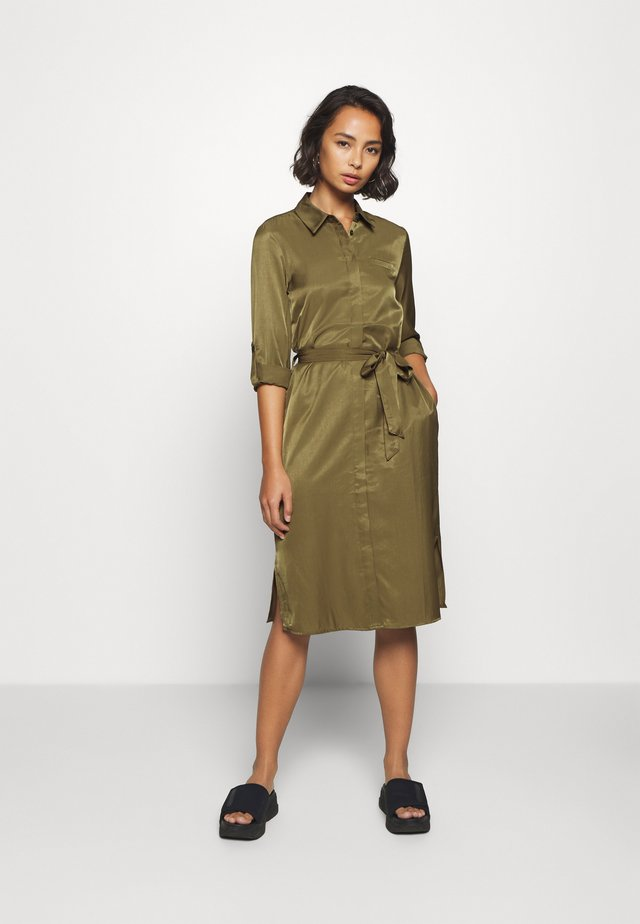 OBJEILEEN DRESS - Day dress - burnt olive