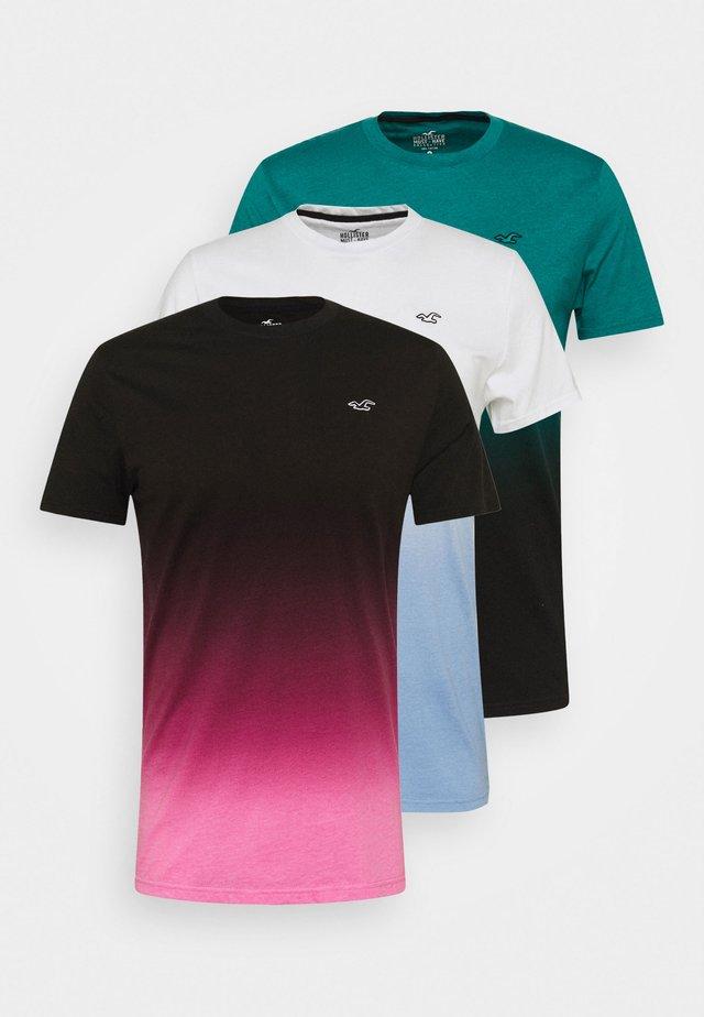3 PACK - T-shirt imprimé - multicolor