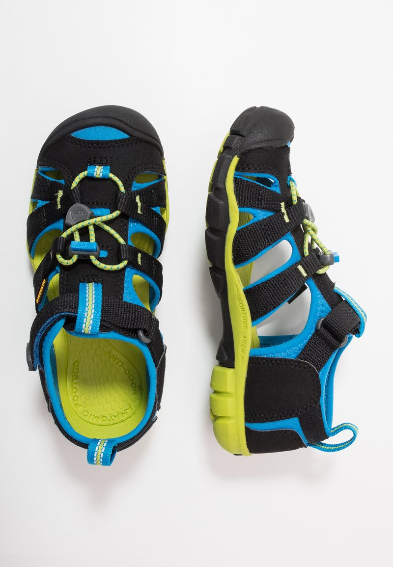 Keen - SEACAMP II CNX - Walking sandals - black/brilliant blue