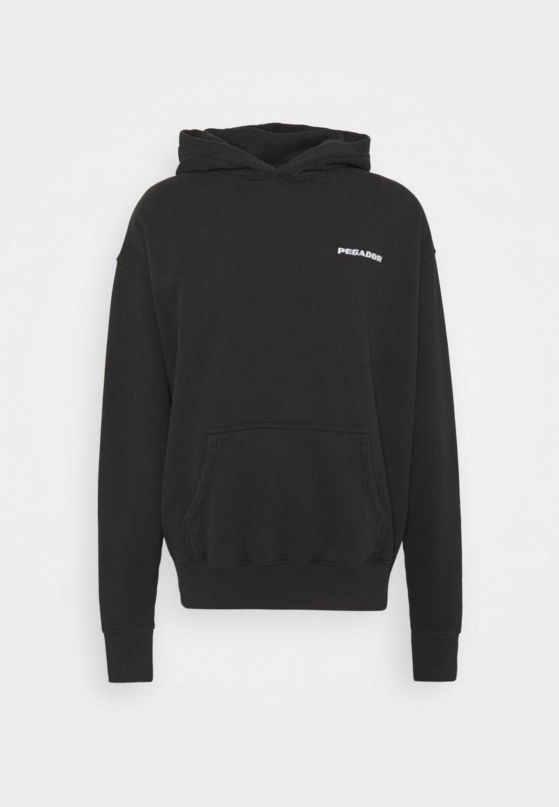 Pegador - LOGO HOODIE UNISEX - Sweatshirt - washed black