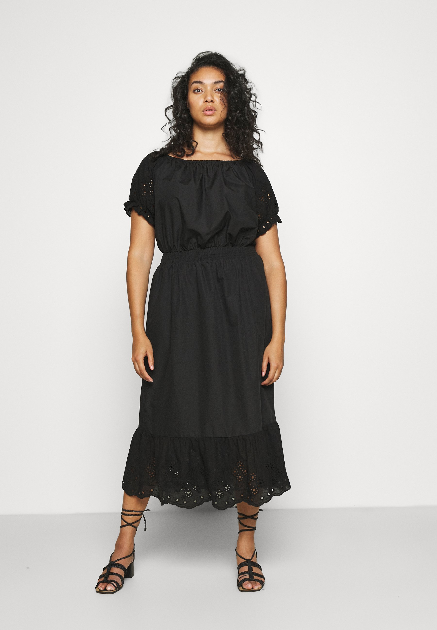 Women CARLUCIA OFFSHOULDER CALF DRESS PLUS - Day dress