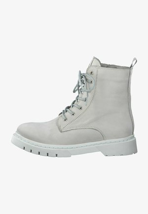 Lace-up ankle boots - soft grey uni
