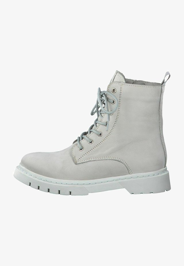 Bottines à lacets - soft grey uni