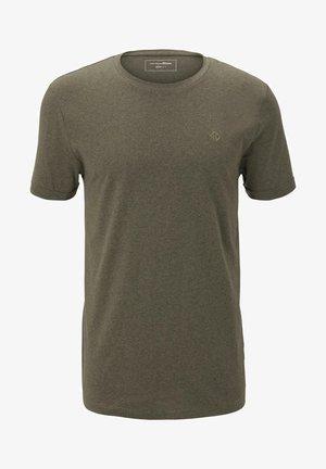 T-shirt basic - dry greyish olive melange