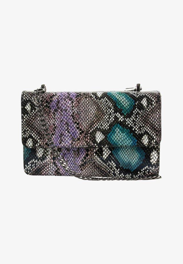 Across body bag - snake turquoise