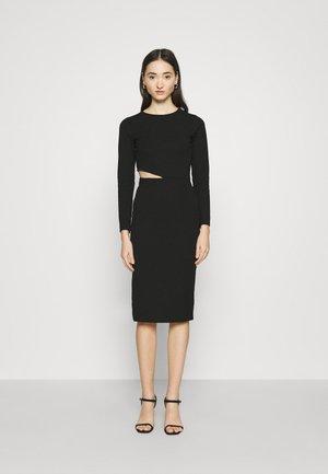 MEYA CUTOUT DRESS - Day dress - black