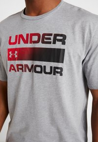 Under Armour - HEATGEAR - T-shirt print - steel light heather/black - 5