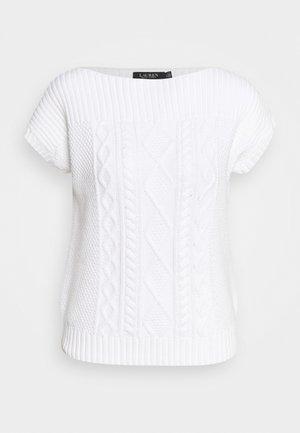SHAUREEN SHORT SLEEVE - Sweter - white