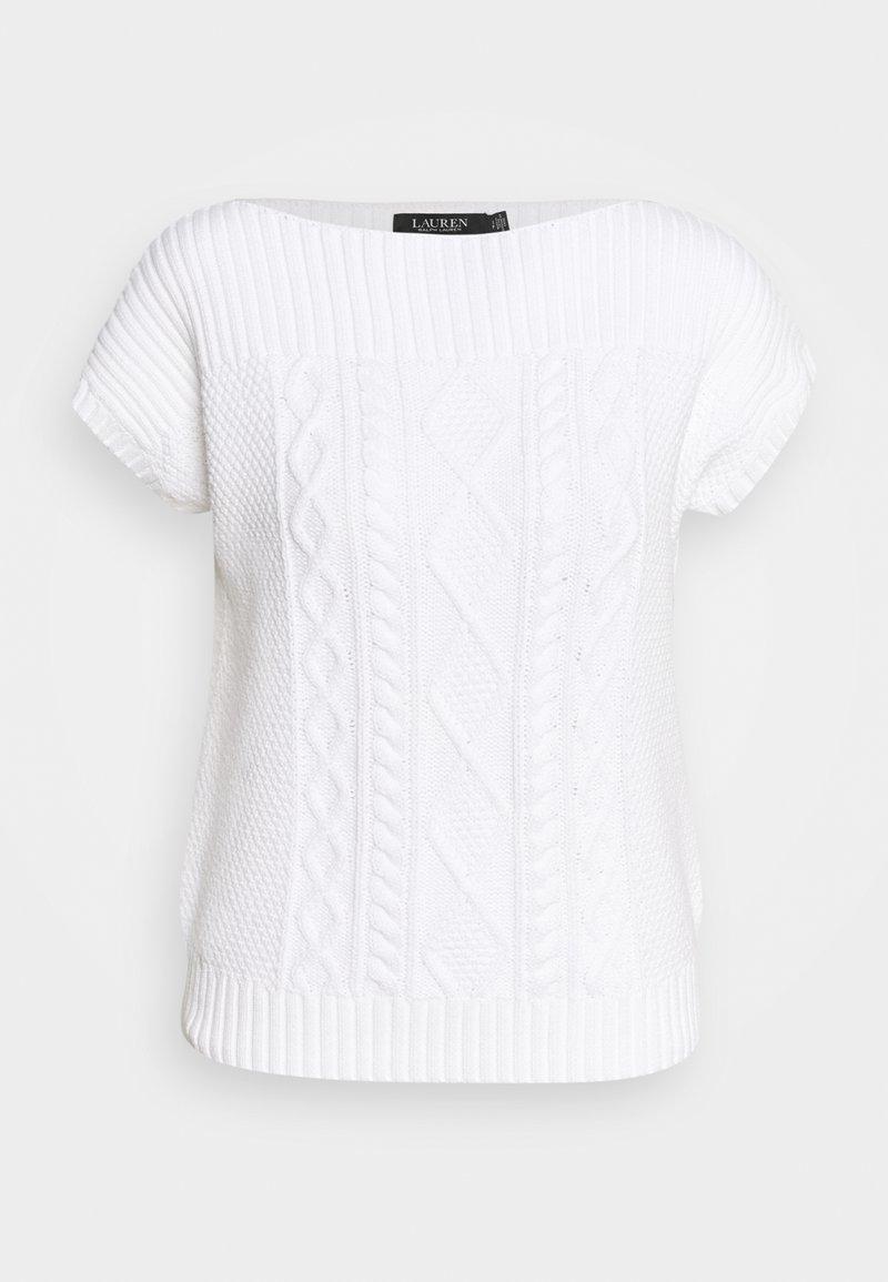 Lauren Ralph Lauren - SHAUREEN SHORT SLEEVE - Jumper - white
