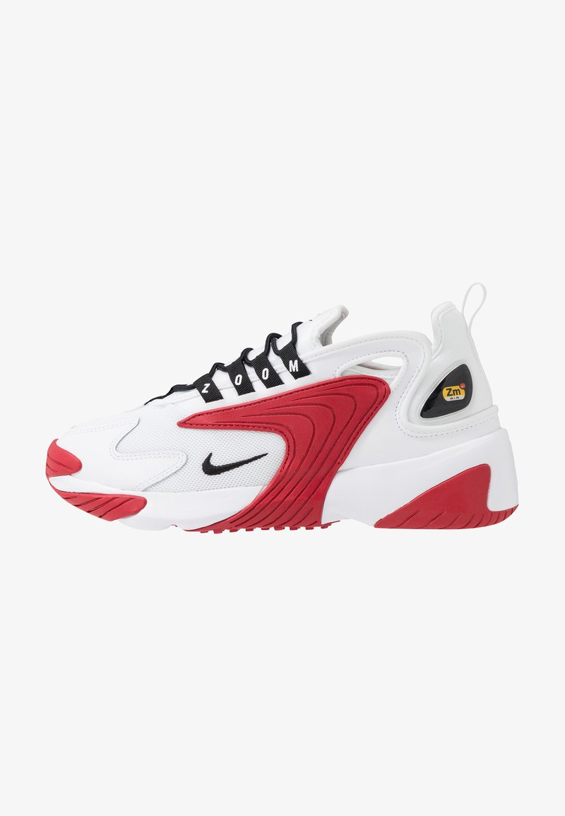 Nike Sportswear - ZOOM  - Sneakers - white/black/gym red