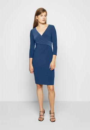 MID WEIGHT DRESS - Shift dress - dark cerulean