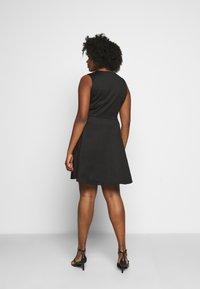 Simply Be - WRAP PINAFORE DRESS - Žerzejové šaty - black - 2