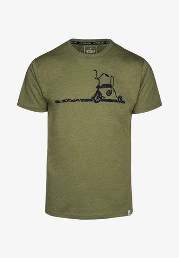 ERICH - Print T-shirt - green