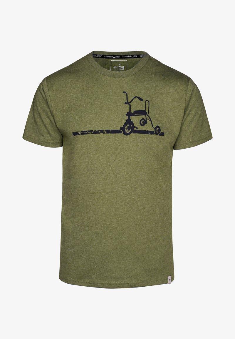 Spitzbub - ERICH - Print T-shirt - green