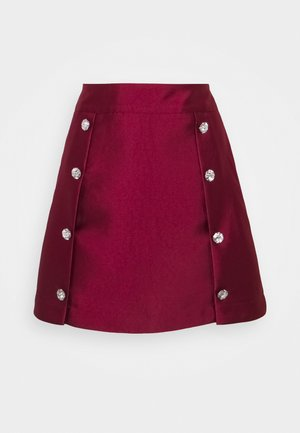 CHERRY SKIRT - A-line skirt - red plum