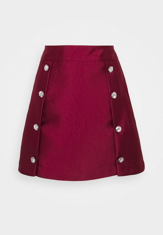 CHERRY SKIRT - A-linjekjol - red plum