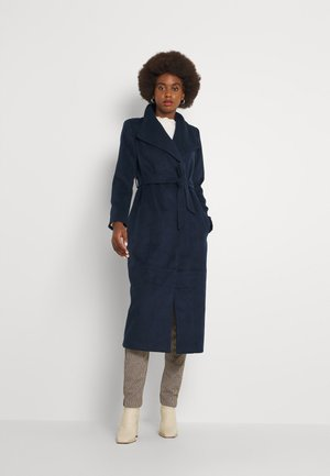VIPOKU BELTED LONG COAT - Klasyczny płaszcz - navy blazer