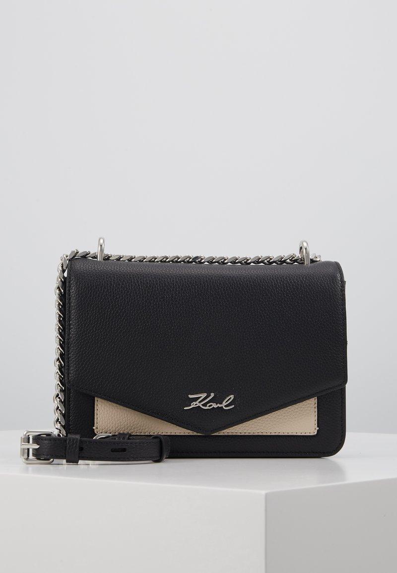 KARL LAGERFELD - POCKET SHOULDER BAG - Across body bag - black