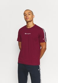 Champion - CREWNECK  - Print T-shirt - dark red - 0