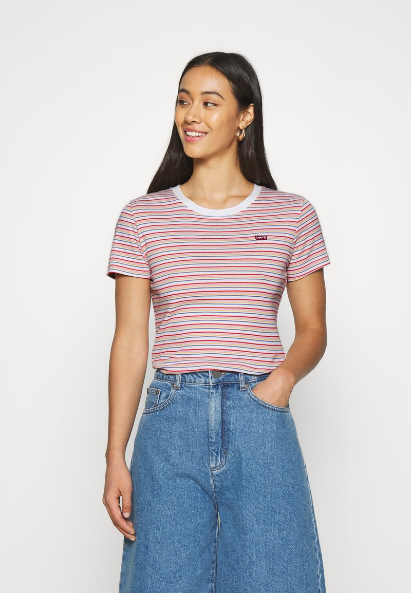 Levi's® - BABY TEE - T-shirts print - pearl poppy red