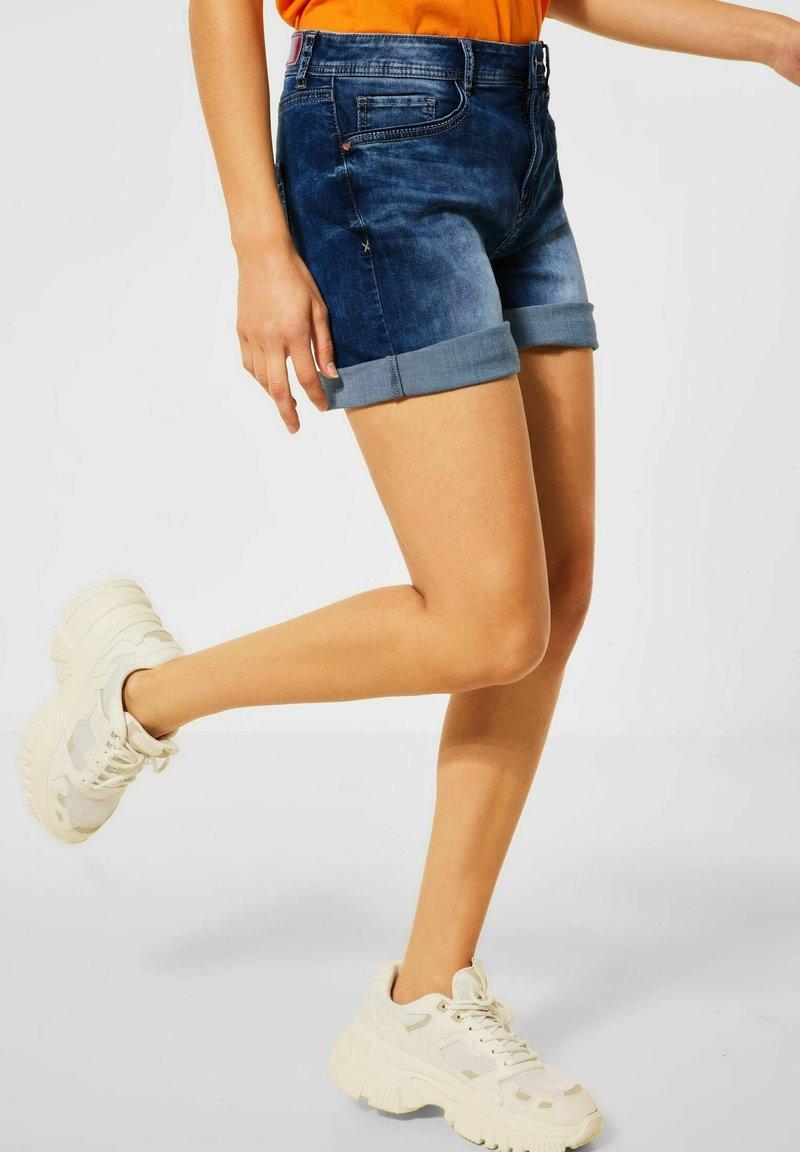 Street One - Denim shorts - blau