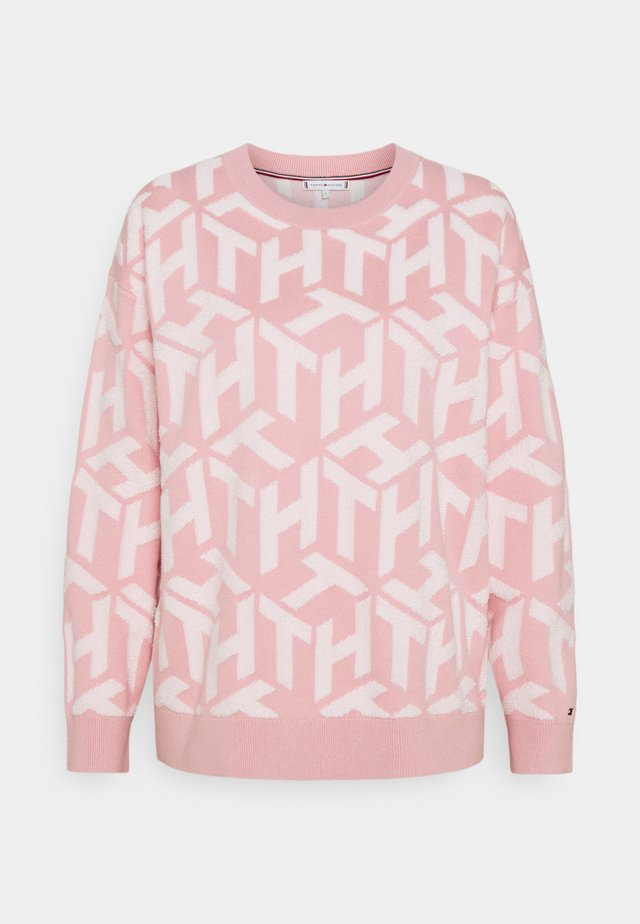 BIG CUBE - Sweatshirt - cube glacier pink/ecru