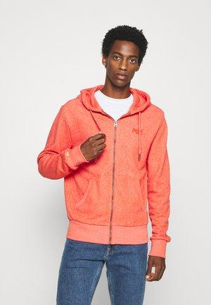 CLASSIC  - Zip-up hoodie - grenadine birdseye