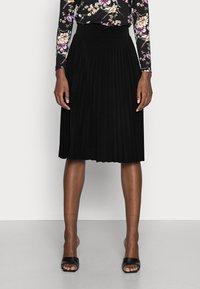 Anna Field - Plisse A-line mini skirt - Jupe trapèze - black - 0