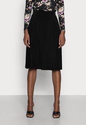 Plisse A-line mini skirt - Spódnica trapezowa - black